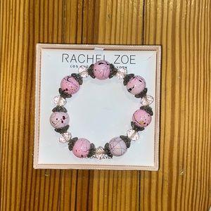 Sterling silver and pink bracelet